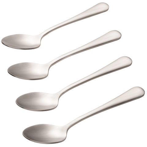 BONJOUR 4-PIECE STAINLESS STEEL DEMITASSE SPOON SET