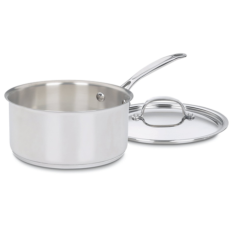 CUISINART CHEF'S CLASSIC STAINLESS 3-QUART SAUCEPAN WITH COVER