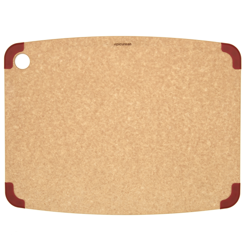 EPICUREAN NONSLIP SERIES 17.5'' X 13'' CUTTING BOARD - NATURAL/RED