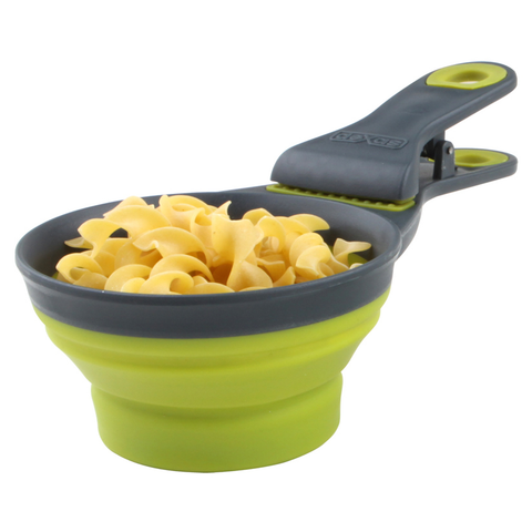 DEXAS 1/2 CUP COLLAPSIBLE KITCHEN KLIPSCOOP™ (ROUND), GREEN
