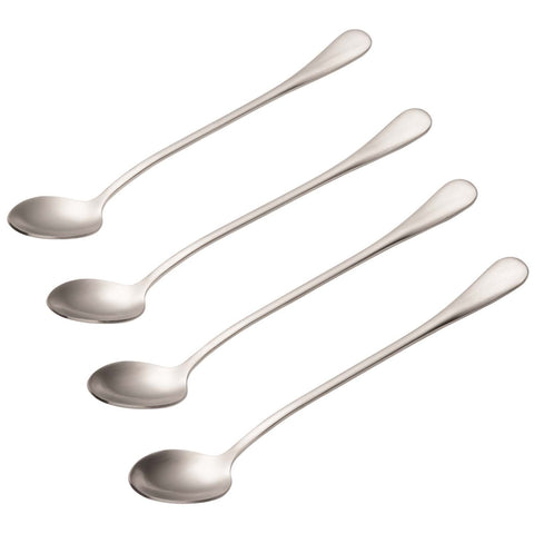 BONJOUR 4-PIECE STAINLESS STEEL LATTE SPOON SET