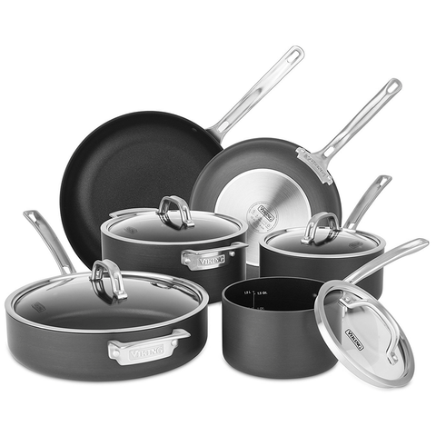 VIKING 10-PIECE HARD ANODIZED NONSTICK COOKWARE SET