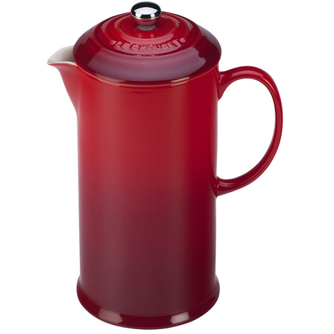 LE CREUSET 27-OUNCE FRENCH PRESS - CERISE
