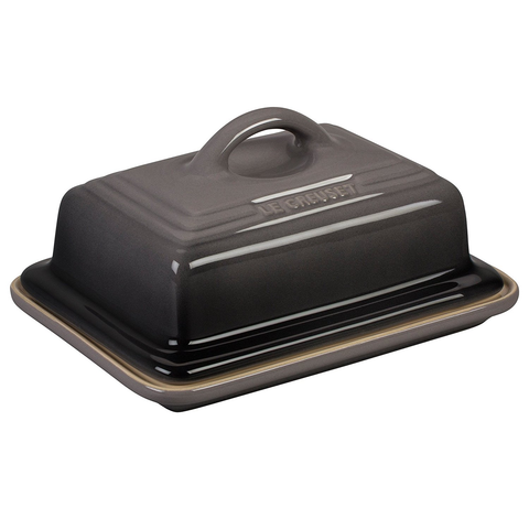 LE CREUSET HERITAGE BUTTER DISH - OYSTER