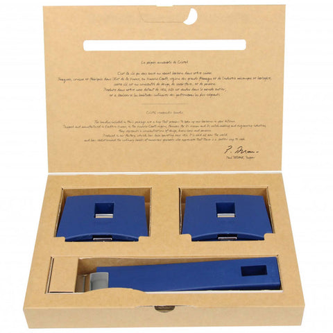 Cristel Mutine Set Of 1 Derachable Handle And 2 Side Handles - Blue Ink