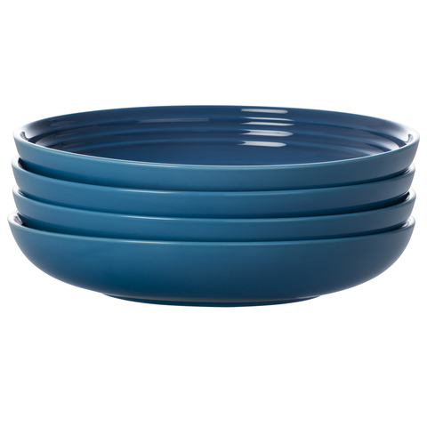 LE CREUSET 8½'' PASTA BOWLS, SET OF 4 - MARSEILLE