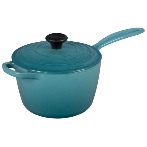 Le Creuset of America Enameled Cast Iron Sauce Pan, 2 1/4-Quart, Caribbean