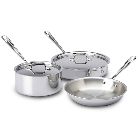 ALL-CLAD STAINLESS 5-PIECE COOKWARE SET