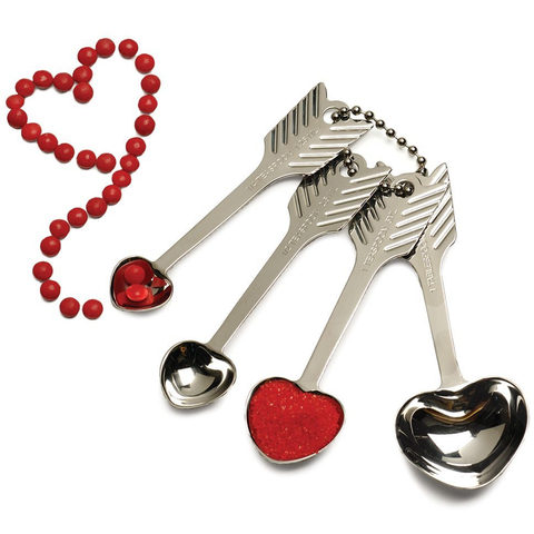 RSVP ENDURANCE® HEART MEASURING SPOON SET