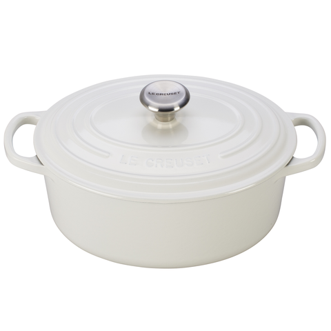 LE CREUSET  2¾-QUART OVAL DUTCH OVEN - WHITE