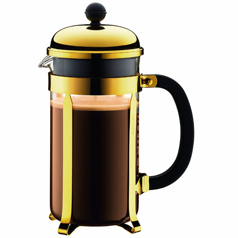 BODUM CHAMBORD 8-CUP FRENCH PRESS - GOLD