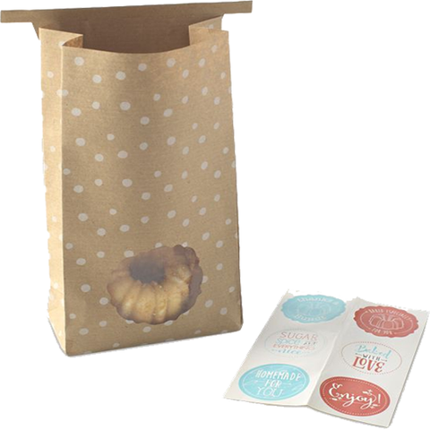 NORDIC WARE GIFT BAGS & STICKERS - 6 COUNTS