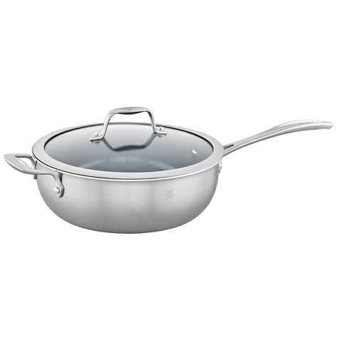 ZWILLING SPIRIT 3-PLY 4.6-QUART STAINLESS STEEL CERAMIC NONSTICK PERFECT PAN