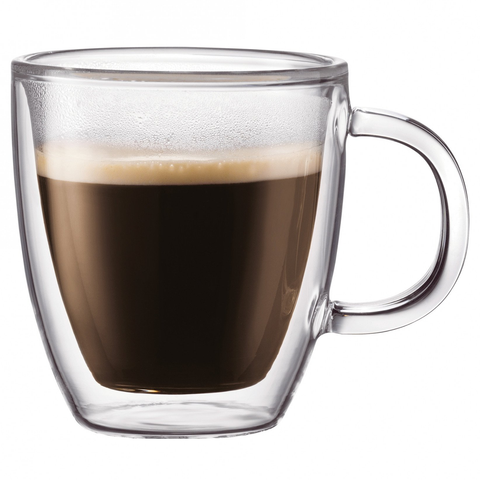 Bodum Bistro 5-Ounce Double-Wall Glass Espresso Mug, Set of 2