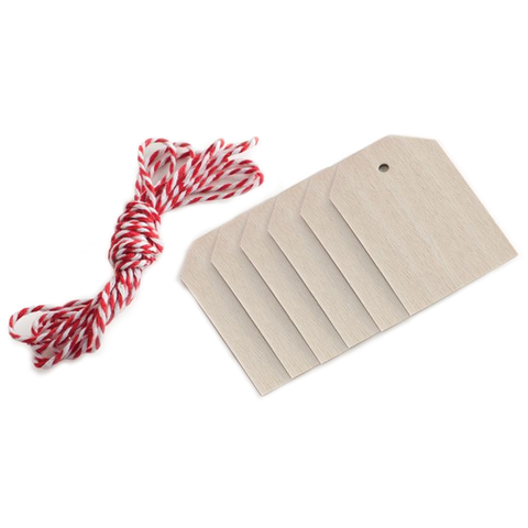 NORDIC WOODS TAGS & BAKERS TWINE - 6 COUNT