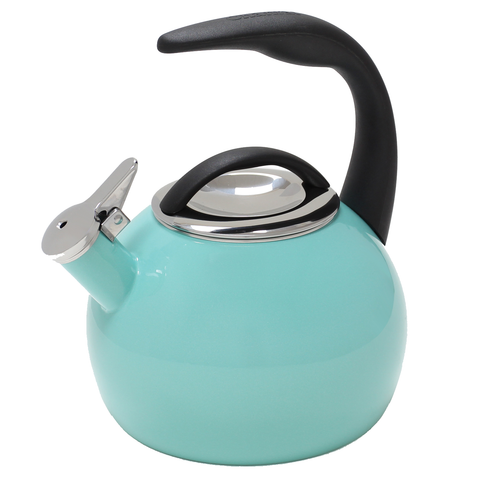 CHANTAL 2-QUART ENAMEL-ON-STEEL ANNIVERSARY TEAKETTLE - AQUA
