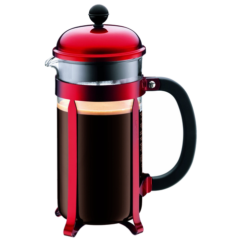 BODUM CHAMBORD 8-CUP FRENCH PRESS - RED