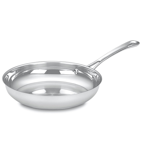 CUISINART CONTOUR STAINLESS 10'' OPEN SKILLET