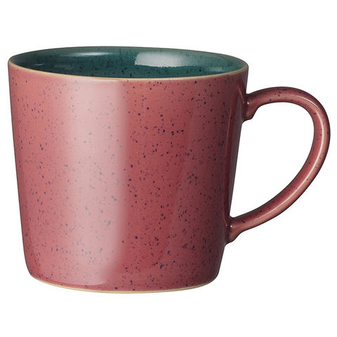 DENBY HARLEQUIN CASCADE MUG - RED/GREEN