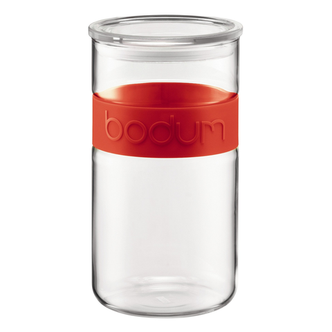 Bodum Presso 68-Ounce Storage Jar, Red