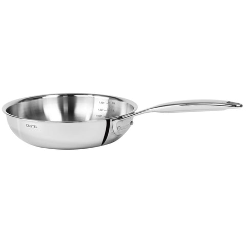 CRISTEL CASTEL PRO 11.0'' STAINLESS CHEF'S PAN