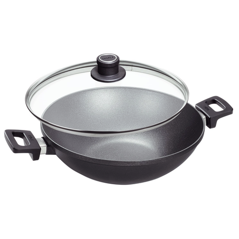 Woll Titanium Nowo 12.5-Inch Wok with Side Handles & Lid