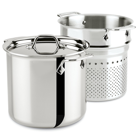 ALL-CLAD STAINLESS STEEL 7-QUART PASTA PENTOLA