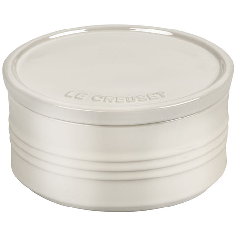 Le Creuset 23-Ounce Canister With Stoneware Are Lid - Metallic Meringue