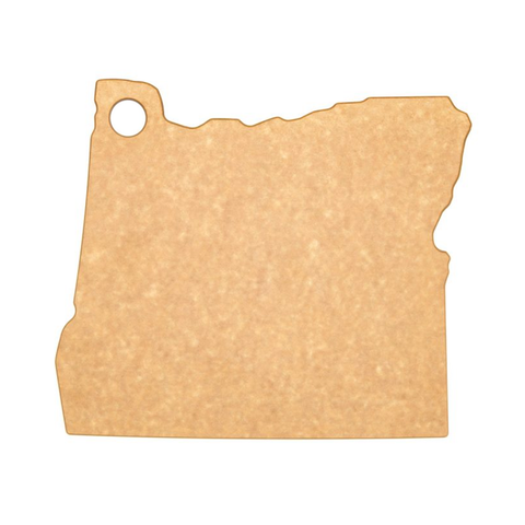 EPICUREAN STATE OF OREGON 12'' X 10'' CUTTING AND SERVING BOARD - NATURAL