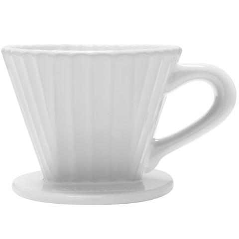 CHANTAL 8-OUNCE LOTUS CERAMIC FILTER - WHITE