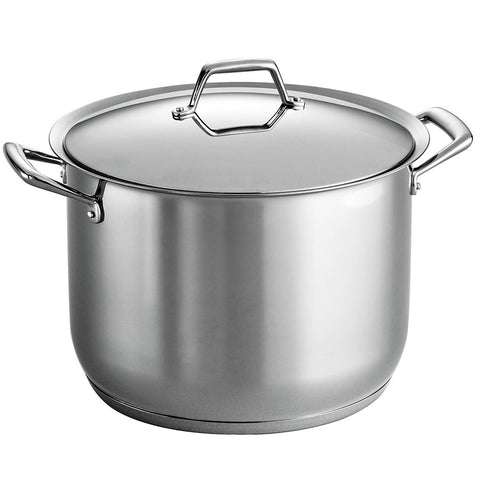 TRAMONTINA 18/10 STAINLESS STEEL 16-QUART COVERED STOCK POT