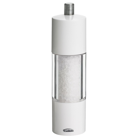Trudeau Adagio White 7.5 Inch Adjustable Salt Mill