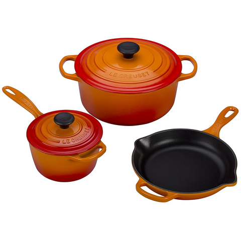 LE CREUSET 5-PIECE SIGNATURE SET - FLAME
