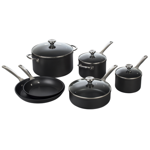 LE CREUSET TOUGHENED NONSTICK 10-PIECE COOKWARE SET