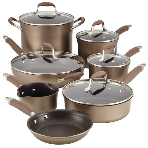 ANOLON 12-PIECE ADVANCED HARD-ANODIZED NONSTICK COOKWARE SET