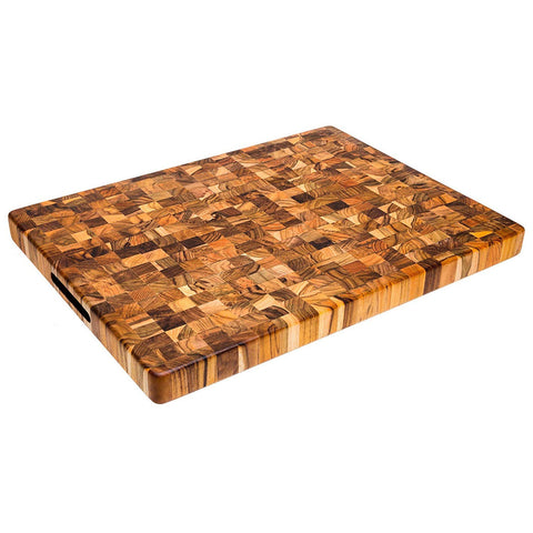 Teakhaus Cutting Board - Rectangle Butcher Block With Hand Grip ( 20 x 15 x 1.5 in.) - By Teakhaus