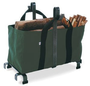 Enclume Carrier Bag Log Rack, Hammered Steel