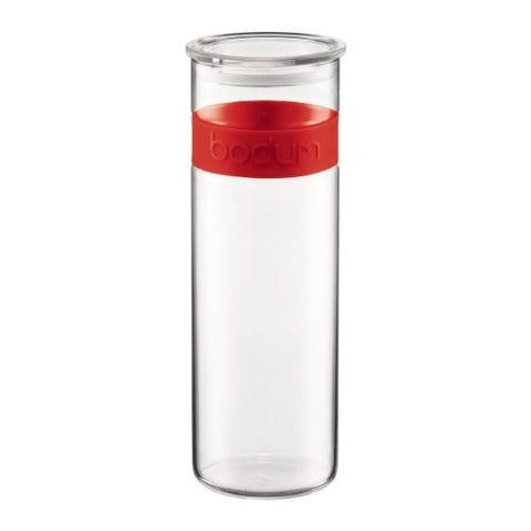 Bodum Presso 64-Ounce Storage Jar, Red