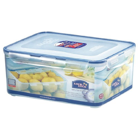 LOCK & LOCK 220-FLUID OUNCE RECTANGULAR FOOD CONTAINER WITH TRAY TALL 27 CUPS
