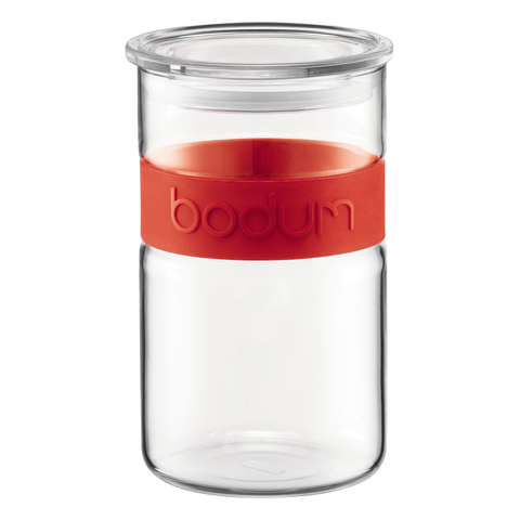 Bodum Presso 20-Ounce Storage Jar, Red