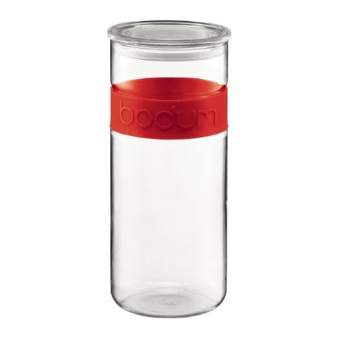 Bodum Presso 85-Ounce Storage Jar, Red