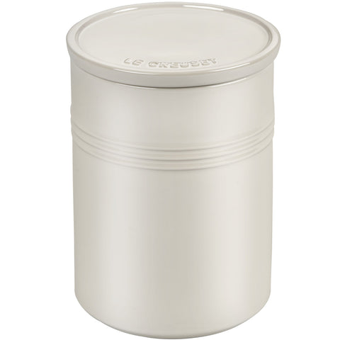 Le Creuset 2.5-Quart Canister with Stoneware Lid - Metallic Meringue
