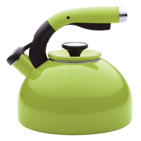 CIRCULON 2-QUART MORNING BIRD TEAKETTLE, KIWI GREEN