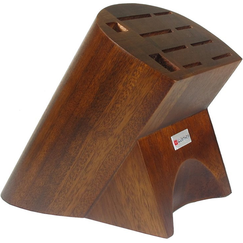 WUSTHOF 10-SLOT BURMESE WALNUT BLOCK