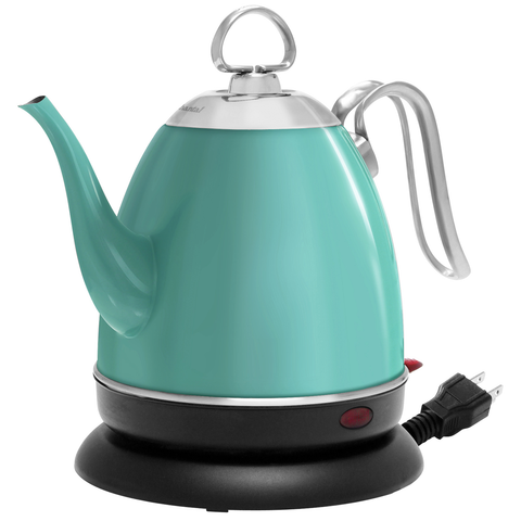 CHANTAL 32-OUNCE MIA EKETTLE ELECTRIC WATER KETTLE - AQUA FINISH