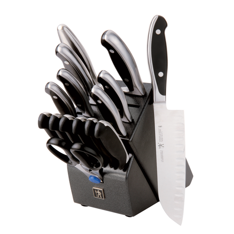 J.A. HENCKELS INTERNATIONAL FORGED SYNERGY 16-PIECE EAST MEETS WEST KNIFE BLOCK SET