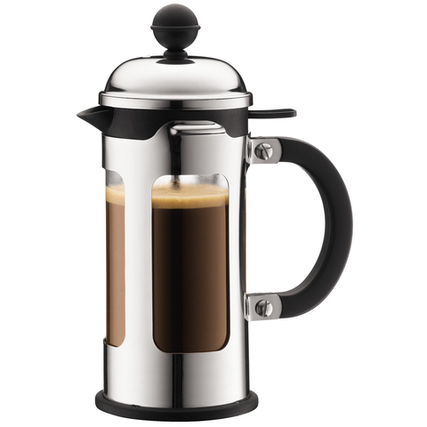 BODUM CHAMBORD 3-CUP FRENCH PRESS - CHROME