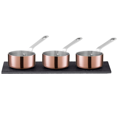 SCANPAN MAITRE D COPPER 3-PIECE SAUCE SET