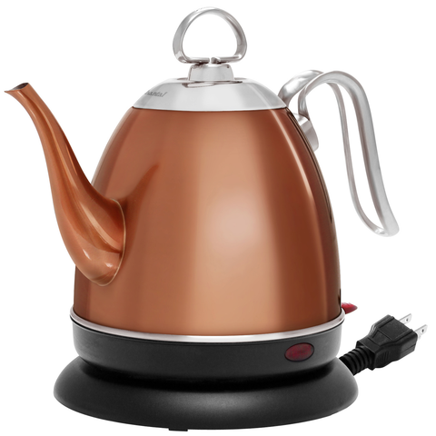 CHANTAL 32-OUNCE MIA EKETTLE ELECTRIC WATER KETTLE - COPPER FINISH