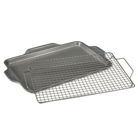 All-Clad Pro-Release Bakeware Half Sheet Pan with Cooling & Baking Rack